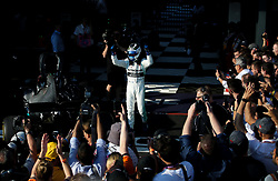 MELBOURNE, March 17, 2019  Mercedes driver Valtteri Bottas of Finland celebrates after winning the Formula 1 Australian Grand Prix 2019 at the Albert Park in Melbourne, Australia, March 17, 2019. (Credit Image: © Bai Xuefei/Xinhua via ZUMA Wire)