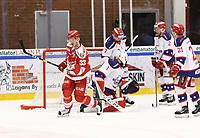 2020-02-12 | Ljungby, Sweden: Troja-Ljungby (33) Daniel Karlsson celebrating after scoring 3-3 during the game between IF Troja / Ljungby and Huddinge IK at Ljungby Arena ( Photo by: Fredrik Sten | Swe Press Photo )<br /> <br /> Keywords: Ljungby, Icehockey, HockeyEttan, Ljungby Arena, IF Troja / Ljungby, Huddinge IK, fsth200212, ATG HockeyEttan, Allettan