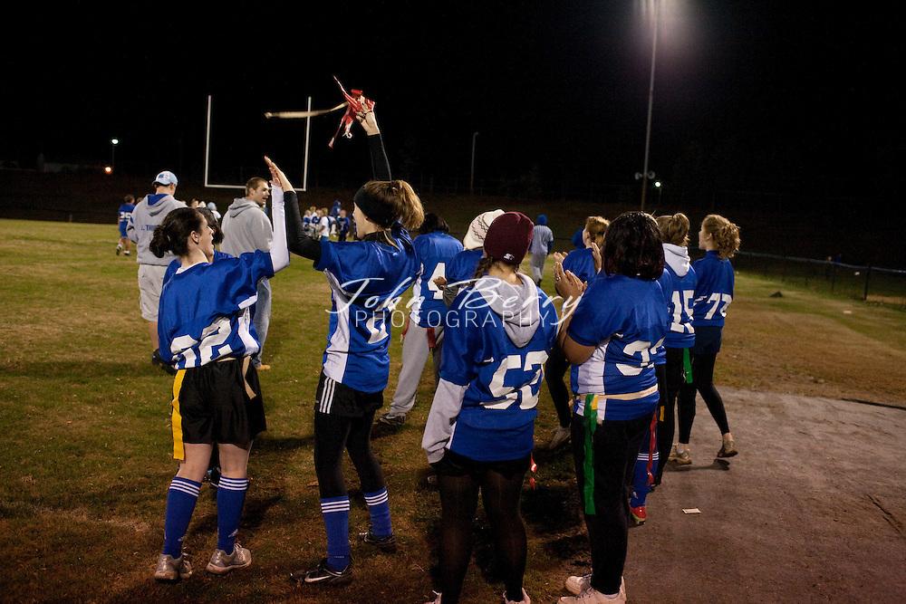 Junior-Senior Powder Puff .Seniors win 9-0 on Rachel Strahan field goal and Ashley Sealander touchdown. .12/1/09
