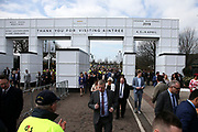 Crowds pour in to the sell out Randox Health Grand National on Grand National Day at at Aintree, Liverpool, United Kingdom on 14 April 2018. Picture by Craig Galloway.