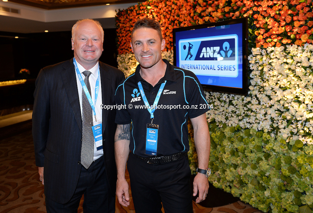 New Zealand Cricket sponsor ANZ Bank Welcome Function ahead of the 2 test match series between the New Zealand Black Caps Cricket team and India. Langham Hotel. Auckland, New Zealand. Tuesday 4 February 2014.    Photo: Andrew Cornaga/ www.Photosport.co.nz
