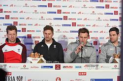 09.02.2018, Austria House, Pyeongchang, KOR, PyeongChang 2018, Pressekonferenz, im Bild Reichelt, Franz, Mayer, Kriechmayer // Reichelt, Franz, Mayer, Kriechmayer during a Pressconference of the Austrian Olympic Team in the Austria House in Pyeongchang, South Korea on 2018/02/09. EXPA Pictures © 2018, PhotoCredit: EXPA/ Erich Spiess