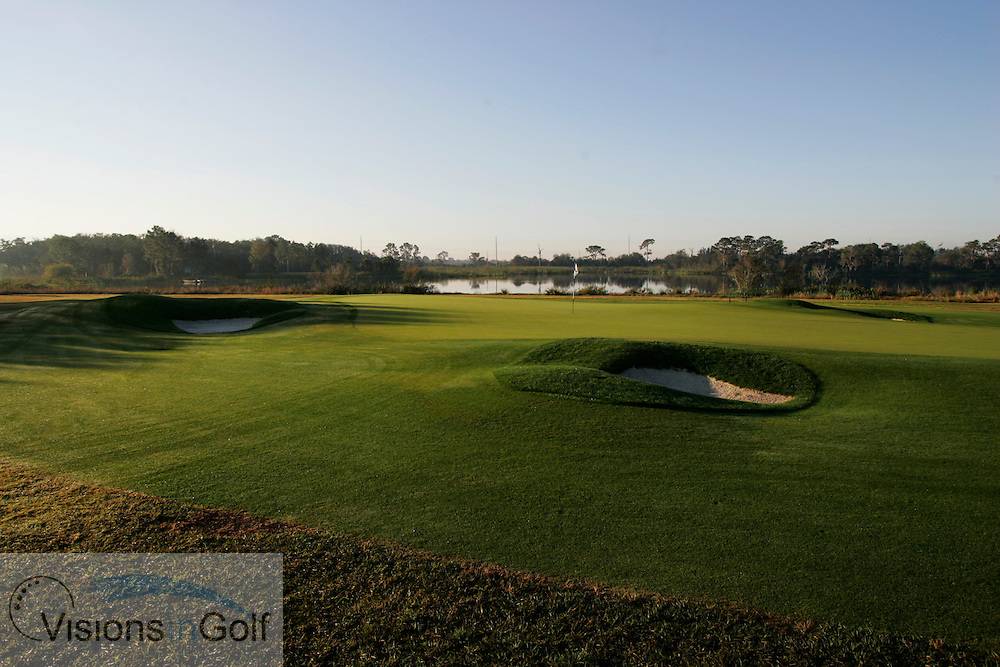 The 5th par 3 hole The International Course, Champions Gate, Florida USA. Designed by Greg Norman<br /> <br /> Photo Mark Newcombe