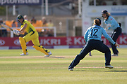 Tammy Beaumont fielding during the Royal London Women's One Day International match between England Women Cricket and Australia at the Fischer County Ground, Grace Road, Leicester, United Kingdom on 4 July 2019.