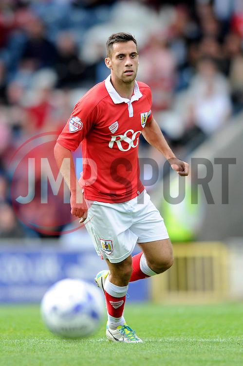 Bristol City's Sam Baldock - Photo mandatory by-line: Dougie Allward/JMP - Mobile: 07966 386802 23/08/2014 - SPORT - FOOTBALL - Manchester - Spotland Stadium - Rochdale AFC v Bristol City - Sky Bet League One