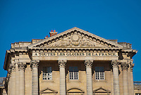 "Palace of Versailles. ""All for the glory of France"" on entrance."