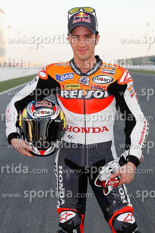 19.03.2010, Doha, Katar, QAT, MotoGP, Fahrerfotos im Bild Andrea Dovizioso - Repsol Honda team, EXPA Pictures © 2010, PhotoCredit: EXPA/ InsideFoto/ Semedia / SPORTIDA PHOTO AGENCY