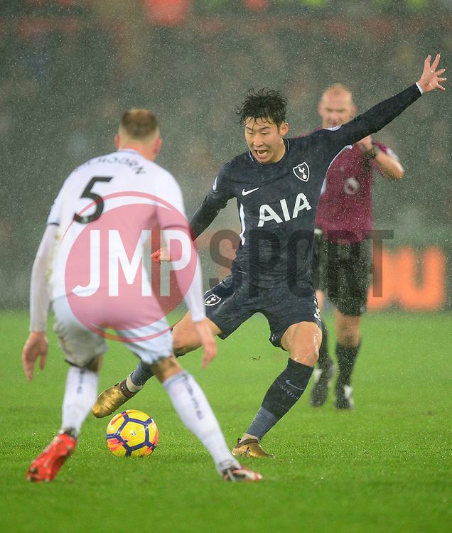 Son Heung-Min of Tottenham Hotspur - Mandatory by-line: Alex James/JMP - 02/01/2018 - FOOTBALL - Liberty Stadium - Swansea, England - Swansea City v Tottenham Hotspur - Premier League