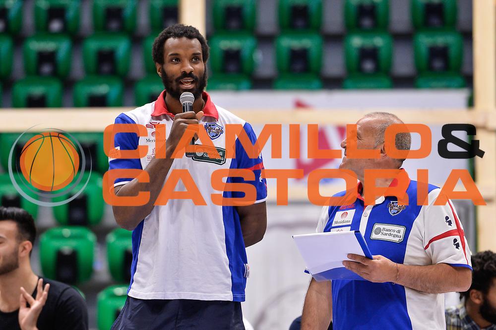 Gani Lawal<br /> Saluti Finali Banco di Sardegna Dinamo Sassari<br /> Legabasket Serie A LBA Poste Mobile 2016/2017<br /> Sassari 18/05/2017<br /> Foto Ciamillo-Castoria