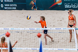 19-07-2018 NED: CEV DELA Beach Volleyball European Championship day 5<br /> Mini of the day, Marloes Wesselink NED #2, Sophie van Gestel NED #1