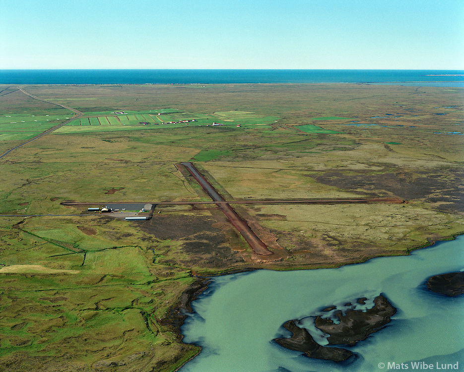 BISF Selfoss flugv&circ;llur s&Egrave; til suurs, &iexcl;rborg /<br /> BISF Selfoss airport viewing south, Arborg.
