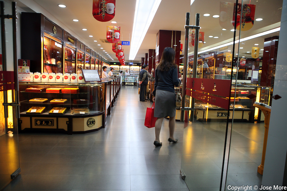 Shanghai, China: Modern western style stores in Shanghai's shopping districts.  Jose More Photography