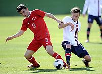 Fotball<br /> Landskamp G17<br /> Norge v Tyrkia / Norway v Turkey 0:2<br /> La Manga Spania <br /> 07.02.2014<br /> Foto: Morten Olsen/Digitalsport<br /> <br /> Julian Veen Uldal (2) - Viking / Norge