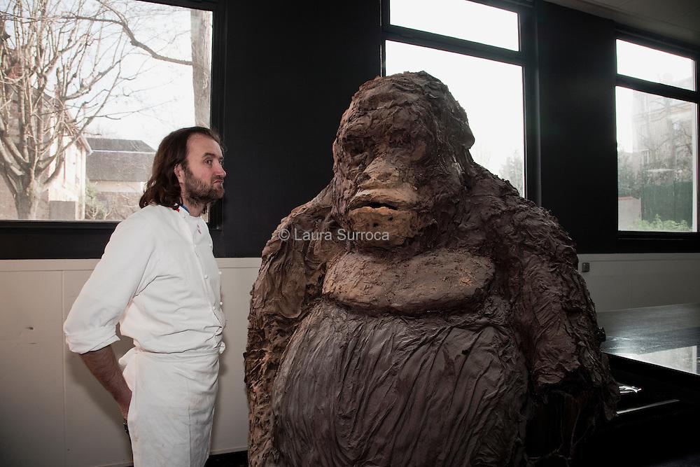Patrick Roger, artiste chocolatier et Meilleur Ouvrier de France. Sceaux, le 13 janvier 2012.