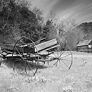Abandoned Wagon - Old Ice House - Oak Glen, CA - Infrared Black & White