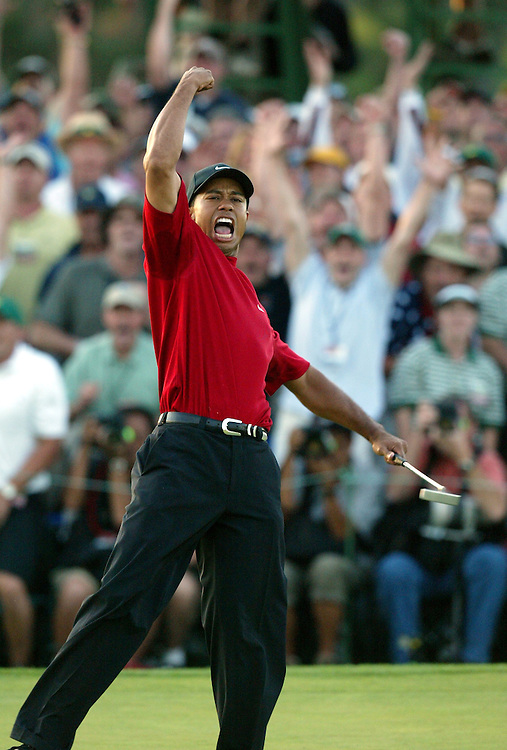 Tiger Wood wins the Master at Augusta National Golf Club.