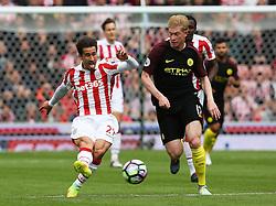 Bojan Krkic of Stoke City and Kevin De Bruyne of Manchester City  - Mandatory by-line: Matt McNulty/JMP - 20/08/2016 - FOOTBALL - Bet365 Stadium - Stoke-on-Trent, England - Stoke City v Manchester City - Premier League