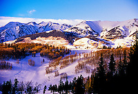 View from Crested Butte mountain resort, Colorado USA