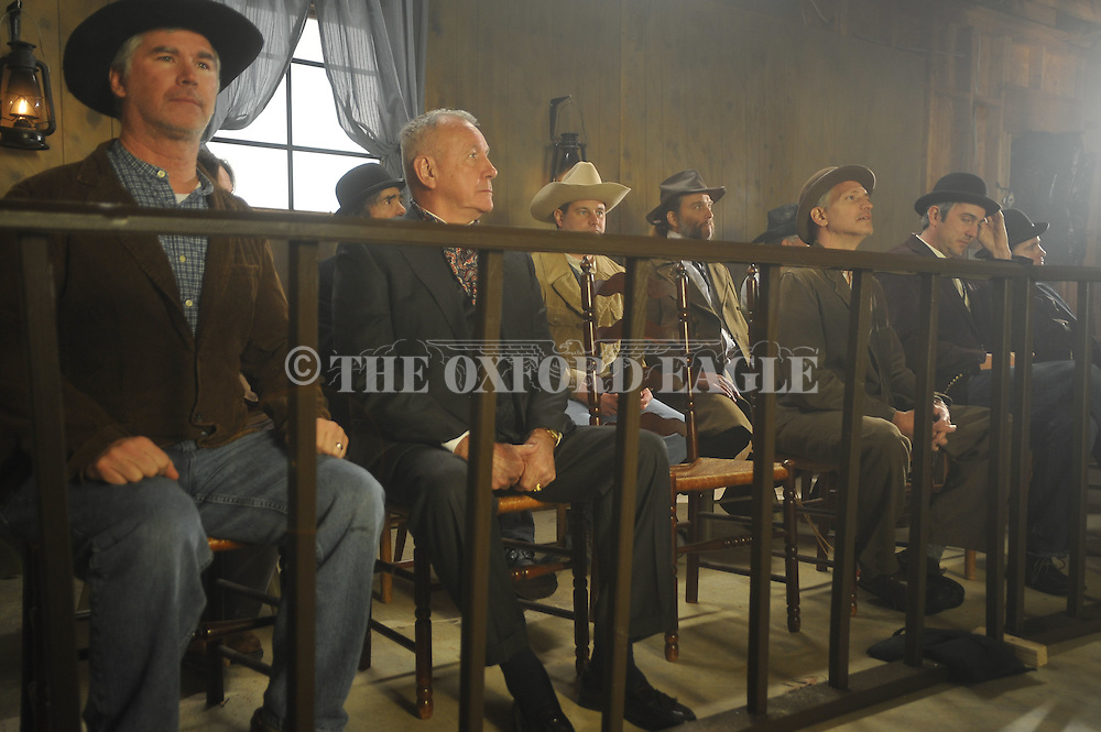 The jury in the filming of The Hanging of Big Todd Wade in Oxford, Miss., on Friday, January 14, 2011.