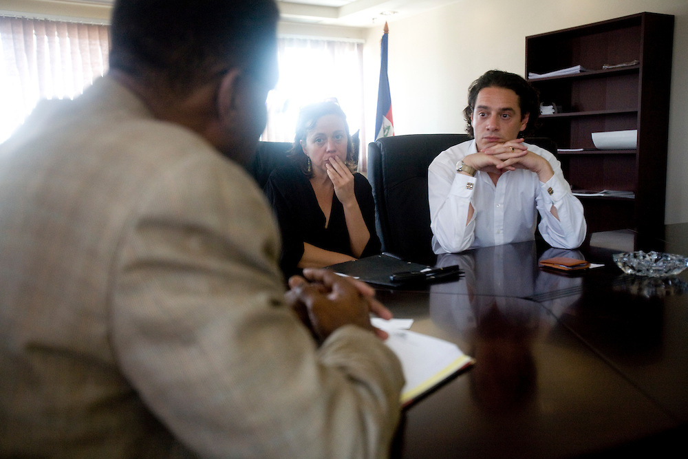 Jude Hervey Day, Head of Cabinet, Emmanuelle Guerry, adopting mother and president of SOS Haiti Enfants Odoptes, and David Koubbi, French lawyer at the Prime Ministers office.