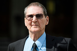 © Licensed to London News Pictures. 22/05/2017. London, UK. TERRY LUBBOCK, father of Stuart Lubbock leaves The High Court in London, where Michael Barrymore is seeking damages after being arrested by Essex police in connection with the death of Stuart Lubbock. Photo credit: Ben Cawthra/LNP