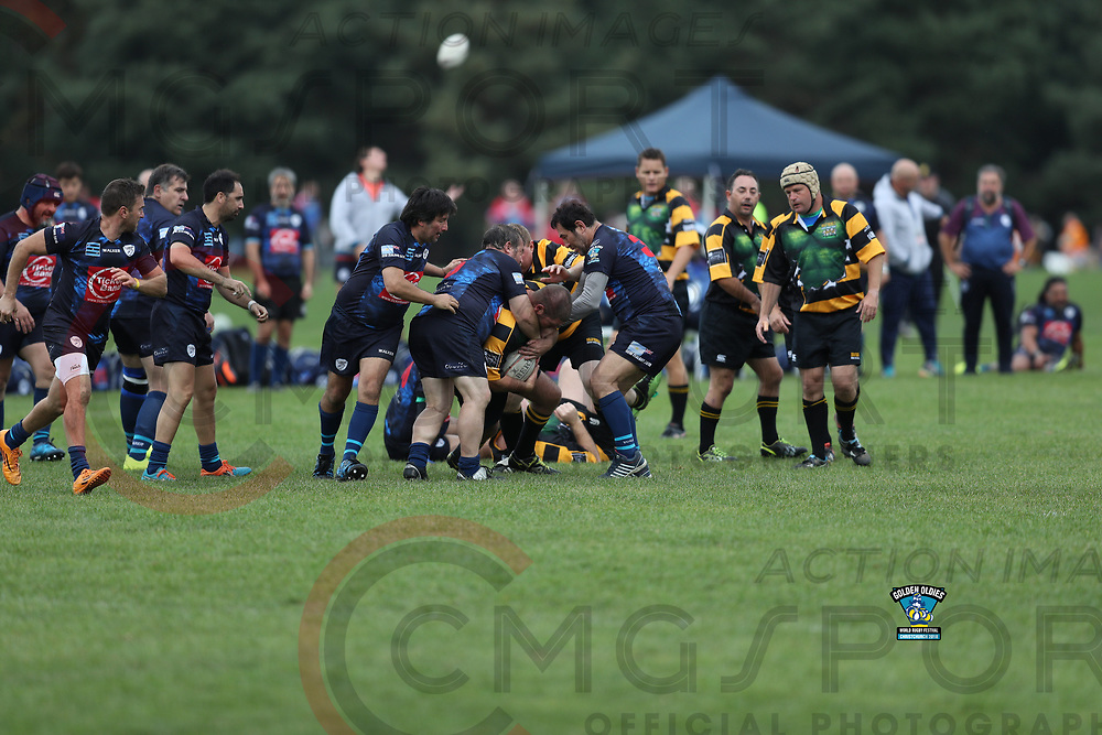 GOLDEN OLDIES FESTIVAL OF RUGBY<br /> PORTENO SAURIUS V GREERTON MARIST GURNARDS<br /> <br /> RUGBY<br /> GOLDEN OLDIES FESTIVAL OF SPORT<br /> RUGBY<br /> <br /> 25/04/2018<br /> Photo CRAIG MORRISON CMG SPORT ACTION IMAGES<br /> &copy;cmgsport2018