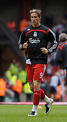 Liverpool, England - Saturday, September 1, 2007: Liverpool's Fernando Torres before the Premiership match against Derby County at Anfield. (Photo by David Rawcliffe/Propaganda)