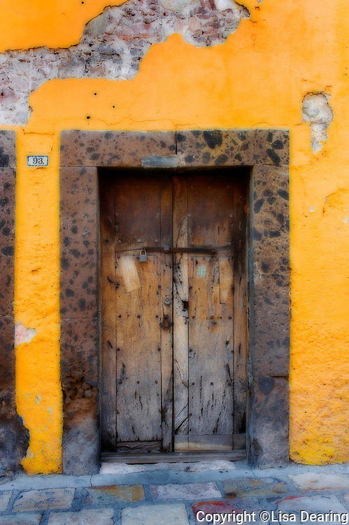 Doorway and Yellow Wall, Guanajuato, Mexico