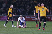 Tottenham Hotspur Harry Kane (10) on the ground after being fouled during the The FA Cup 4th round match between Newport County and Tottenham Hotspur at Rodney Parade, Newport, Wales on 27 January 2018. Photo by Gary Learmonth.