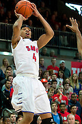 DALLAS, TX - JANUARY 21: Keith Frazier #4 of the SMU Mustangs shoots the ball against the Rutgers Scarlet Knights on January 21, 2014 at Moody Coliseum in Dallas, Texas.  (Photo by Cooper Neill/Getty Images) *** Local Caption *** Keith Frazier