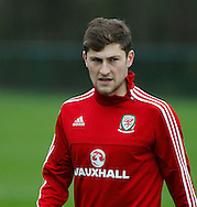 Ben Davies during the Wales Training at the Vale Resort, Hensol<br /> Picture by Mike Griffiths/Focus Images Ltd +44 7766 223933<br /> 10/11/2015