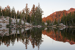 """Five Lakes 4"" - Early morning photograph of one of the Five Lakes in the Tahoe area."