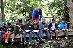 Members of YOSAL, Youth Orchestra of Salinas, enjoyed a unique summer camp experience at Glen Deven Ranch, part of the Big Sur Land Trust. During a day hike down to a pristine creek, Canadian violinist Edwin Huizinga, seen here on July 30th, led a musical creativity workshop in the forest setting, helping kids compose new music with found objects as well as traditional instruments.