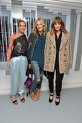 Left to right, TIPHAINE DE LUSSY, KIM HERSOV and LAUREN GURVICH at the Louis Vuitton Series 3 VIP Launch held at 180 Strand, London on 20th September 2015.