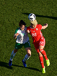 MARBELLA, SPAIN - Thursday, February 28, 2019: Wales' substitute Grace Horrell (R) and Republic of Ireland's Niamh Fahey during an international friendly match between Wales and Republic of Ireland at the Marbella Football Centre. (Pic by David Rawcliffe/Propaganda)
