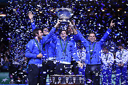 Argentina wins her first Davis Cup title at the Davis Cup final tie between Croatia and Argentinia at the Arena, Zagreb, Croatia on november, 27, 2016. Photo by Corinne Dubreuil/ABACAPRESS.COM