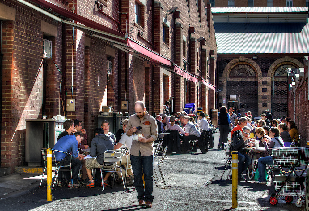 Sunny Melbourne. Queen Victoria Market, a laneway off Therry St. Pic By Craig Sillitoe CSZ/The Sunday Age.10/05/2012 melbourne photographers, commercial photographers, industrial photographers, corporate photographer, architectural photographers, This photograph can be used for non commercial uses with attribution. Credit: Craig Sillitoe Photography / http://www.csillitoe.com<br />