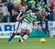 Celtic&rsquo;s Scott Sinclair and Dundee&rsquo;s Nicky Low - Dundee v Celtic in the Ladbrokes Scottish Premiership at Dens Park, Dundee. Photo: David Young<br /> <br />  - &copy; David Young - www.davidyoungphoto.co.uk - email: davidyoungphoto@gmail.com