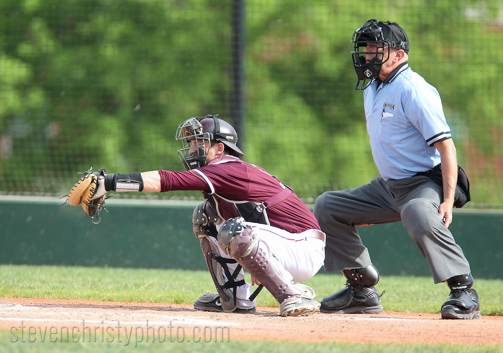 May 7, 2014: The Central Baptist College Mustangs play against the Oklahoma Christian University Eagles in the NCCAA Central Region Tournament at Dobson Field on the campus of Oklahoma Christian University.