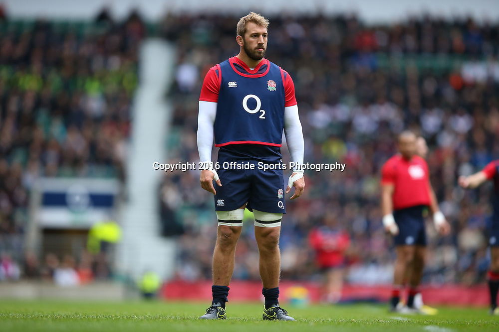 e29 January 2016 - England Rugby Open Training Session - Chris Robshaw of England - Photo: Marc Atkins / Offside.
