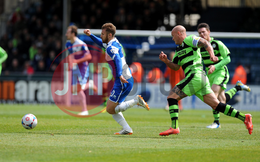 Bristol Rovers' Matt Taylor attacks. - Photo mandatory by-line: Alex James/JMP - Mobile: 07966 386802 - 03/05/2015 - SPORT - Football - Bristol - Memorial Stadium - Bristol Rovers v Forest Green Rovers - Vanarama Football Conference