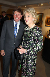 Lawyer FIONA SHACKLETON and her husband MR IAN SHACKLETON auctioneers Sotheby's Summer party held at their showrooms in 34-35 New Bond Street, London W1 on 6th June 2005.<br />