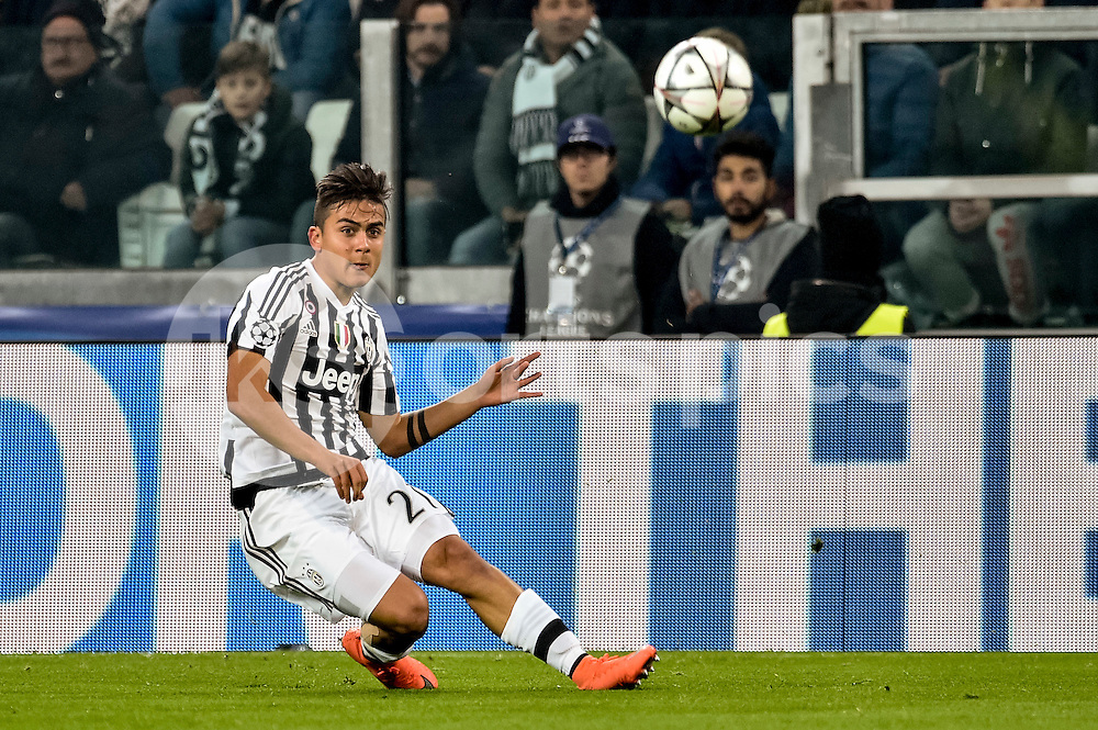 Paulo Dybala of Juventus during the UEFA Champions League match Round of 16 between Juventus and Bayern Munich at the Juventus Stadium, Turin, Italy on 23 February 2016. Photo by Giuseppe Maffia.