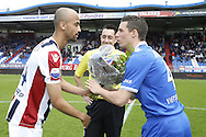 Onderwerp/Subject: Eredivisie<br /> Reklame:  <br /> Club/Team/Country: <br /> Seizoen/Season: 2012/2013<br /> FOTO/PHOTO: Philipp HAASTRUP (L) of Willem II gives flowers to Nick VIERGEVER (R) of AZ Alkmaar for the victory of the cup final. (Photo by PICS UNITED)<br /> <br /> Trefwoorden/Keywords: <br /> #02 #05 #08 $94 &plusmn;1355244121349 &plusmn;1355244121349<br /> Photo- &amp; Copyrights &copy; PICS UNITED <br /> P.O. Box 7164 - 5605 BE  EINDHOVEN (THE NETHERLANDS) <br /> Phone +31 (0)40 296 28 00 <br /> Fax +31 (0) 40 248 47 43 <br /> http://www.pics-united.com <br /> e-mail : sales@pics-united.com (If you would like to raise any issues regarding any aspects of products / service of PICS UNITED) or <br /> e-mail : sales@pics-united.com   <br /> <br /> ATTENTIE: <br /> Publicatie ook bij aanbieding door derden is slechts toegestaan na verkregen toestemming van Pics United. <br /> VOLLEDIGE NAAMSVERMELDING IS VERPLICHT! (&copy; PICS UNITED/Naam Fotograaf, zie veld 4 van de bestandsinfo 'credits') <br /> ATTENTION:  <br /> &copy; Pics United. Reproduction/publication of this photo by any parties is only permitted after authorisation is sought and obtained from  PICS UNITED- THE NETHERLANDS