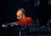 Guy Manuel Homme de Cristo of Daft Punk, Djing, Creamfields, UK, 1998