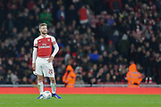 Arsenal defender Shkodran Mustafi (20) during the EFL Cup 4th round match between Arsenal and Blackpool at the Emirates Stadium, London, England on 31 October 2018.