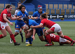 February 2, 2020, Cardiff, United Kingdom: Lucia Gai (Italy) seen in action during the women's Six Nations Rugby between wales and Italy at Cardiff Arms Park in Cardiff. (Credit Image: © Graham Glendinning/SOPA Images via ZUMA Wire)