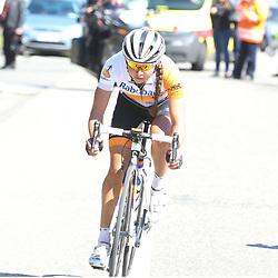 03-04-2016: Wielrennen: Ronde van Vlaanderen vrouwen: Oudenaarde  <br />OUDENAARDE (BEL) cycling  <br />The sixth race in the UCI Womensworldtour is the ronde van Vlaanderen. A race over the famous Flemish climbs. Anouska Koster
