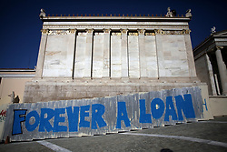 September 7, 2017 - Athens, Attica, Greece - A graffiti that reads 'Forever a Loan' in Athens city center, Greece, September 7, 2017. (Credit Image: © Giorgos Georgiou/NurPhoto via ZUMA Press)