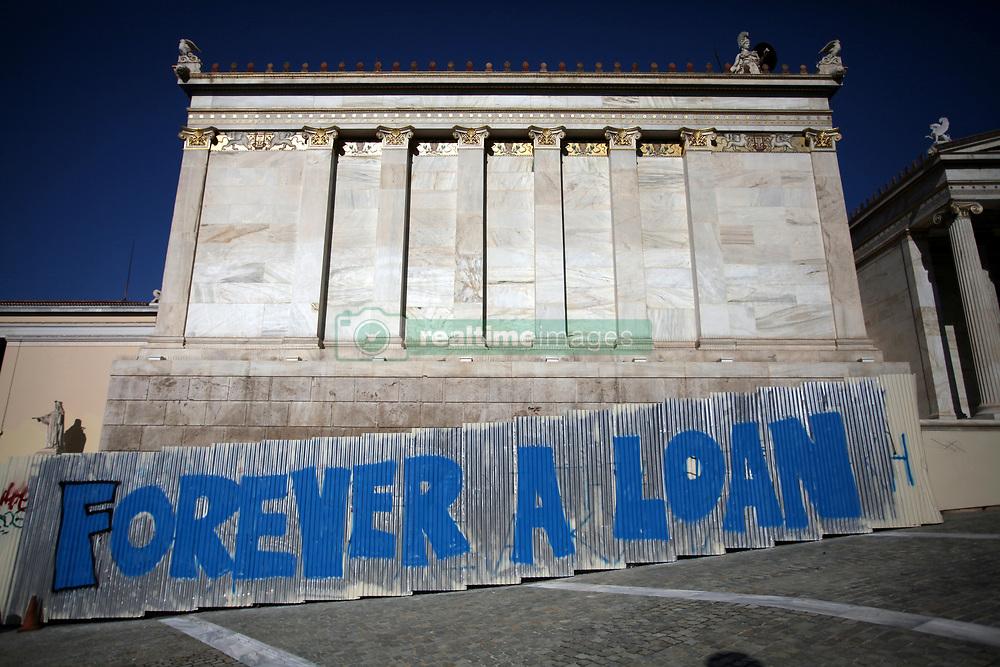 September 7, 2017 - Athens, Attica, Greece - A graffiti that reads 'Forever a Loan' in Athens city center, Greece, September 7, 2017. (Credit Image: © Giorgos Georgiou/NurPhoto via ZUMA Press)